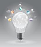 Minimale Art des Lichtpunkts des modernen Designs infographic  Stockfotografie