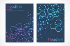 Minimale Broschürenschablonen, Zeitschrift, Broschüre, Flieger, Abdeckung, Broschüre, Jahresbericht, Fahne Wissenschaftliches Kon lizenzfreie abbildung