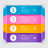 Minimale bunte infographics Elemente Stockfotos