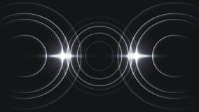 Minimale drei-Zyklus-Schallwelle Stockbilder