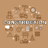 Minimale Entwurfsikonen des Baus Stockfoto