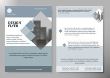 Minimale Flieger berichten über Handelszeitungs-Plakatplan-Portfolioschablone Broschürendesign-Schablonenvektor Quadratischer Pla Stockfoto