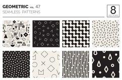 Minimale geometrische nahtlose Muster eingestellt Stockfotos