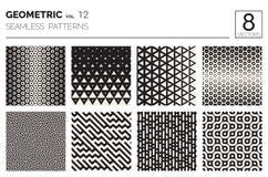 Minimale geometrische nahtlose Muster eingestellt Lizenzfreies Stockfoto