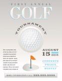 Minimale Golf-Turnier-Illustration lizenzfreie abbildung