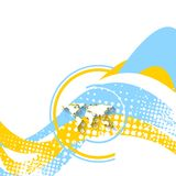 Minimale golvende heldere achtergrond Royalty-vrije Stock Foto