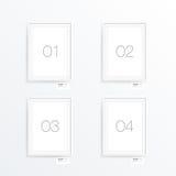 Minimale A4/A3 het ontwerp van de formaataffiche met uw tekst royalty-vrije illustratie
