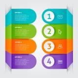 Minimale kleurrijke infographicselementen Stock Foto's