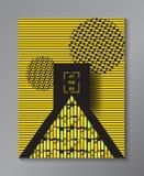 Minimale ontwerpaffiche Royalty-vrije Stock Foto