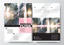 Minimale Plakat-Broschüren-FliegerEntwurf-Vektorschablone A4 in der Größe, Pastellfarbe Lizenzfreie Stockfotografie