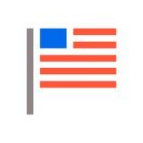 Minimale USA-Flaggenikone Unaited-Staaten von Amerika kennzeichnen minimales Design der Ikone Auch im corel abgehobenen Betrag vektor abbildung