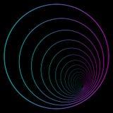 Minimale vaporwave/synthwave stijl logotype Element cyberpunk Neonster met roze en purpere gradiënt op een donkere achtergrond royalty-vrije illustratie