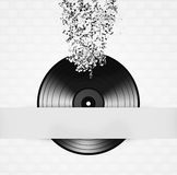 Minimale Zwart-witte Vinylachtergrond Royalty-vrije Stock Foto's