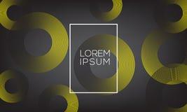 Minimaler geometrischer Hintergrund für Verkauf und Einkaufsplakat dargestellt Stock Abbildung