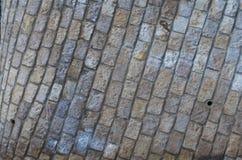 Minimaler horizontaler Compo mit Steinwand Lizenzfreies Stockbild