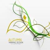 Minimaler mit Blumenhintergrund des Herbstes Stockfotografie