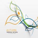 Minimaler mit Blumenhintergrund des Herbstes Stockbild