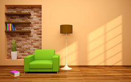 Minimaler moderner Innenraum Lizenzfreies Stockfoto