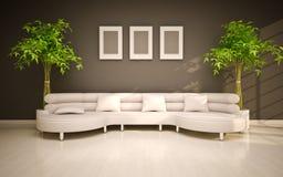 minimaler moderner Innenraum Stockfotografie