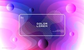Minimaler violetter geometrischer Hintergrund Einfache Formen mit ultravioletten Steigungen Lizenzfreie Stockfotografie