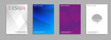 Minimales Abdeckungsdesign Geometrische Halbtonsteigungen Vektor Eps10 Stockfotografie