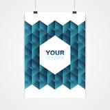 A4 / Minimales abstraktes Design des Plakats des Formats A3 mit Ihrem Text Stockbilder