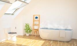 minimales Badezimmer auf Dachboden lizenzfreie stockfotografie