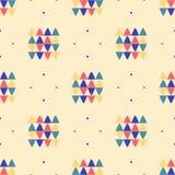 Minimales Design geometrisches nahtloses des Musters ethnisches Textil vektor abbildung