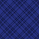 Minimales einfarbiges blaues schwarzes nahtloses Schottenstoffkontrollplaid-Pixelmuster für Gewebeentwürfe Vichy Musterhintergrun vektor abbildung