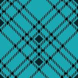 Minimales einfarbiges blaues schwarzes nahtloses Schottenstoffkontrollplaid-Pixelmuster für Gewebeentwürfe Vichy Musterhintergrun stock abbildung