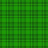 Minimales einfarbiges schwarzes grünes nahtloses Schottenstoffkontrollplaid-Pixelmuster für Gewebeentwürfe Vichy Musterhintergrun vektor abbildung