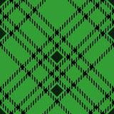 Minimales einfarbiges schwarzes grünes nahtloses Schottenstoffkontrollplaid-Pixelmuster für Gewebeentwürfe Vichy Musterhintergrun stock abbildung