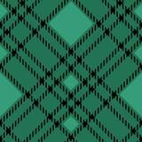 Minimales einfarbiges schwarzes grünes nahtloses Schottenstoffkontrollplaid-Pixelmuster für Gewebeentwürfe Vichy Musterhintergrun lizenzfreie abbildung
