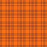 Minimales einfarbiges schwarzes orange nahtloses Schottenstoffkontrollplaid-Pixelmuster für Gewebeentwürfe Vichy Musterhintergrun lizenzfreie abbildung