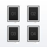 Minimales Plakatdesign des Formats A4/A3 mit Ihrem Text Stockfoto
