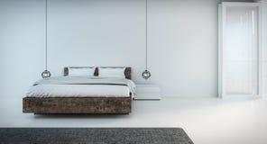 Minimales Schlafzimmer auf seaview Lizenzfreies Stockfoto