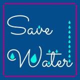 Minimales Vektorkonzept für Weltwassertag Stockbilder