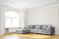Minimales Wohnzimmer mit Sofa Lizenzfreie Stockfotografie