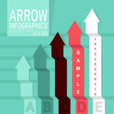 Minimalism arrows infographics design Stock Images