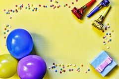 Minimalism, party, gift box, colorful, celebration, pattern, con royalty free stock image
