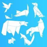 Origami big  white  set , simple design vector illustration