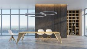Minimalism style interior of dining room Stock Image
