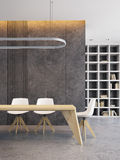 Minimalism style interior of dining room Royalty Free Stock Photo