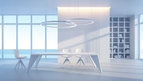Minimalism style interior of dining room Stock Photo