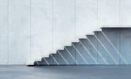 Minimalism style stairs. Illuminated by sun Royalty Free Stock Photo