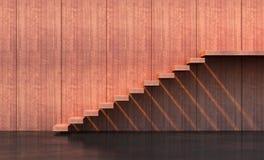 Minimalism style stairs. Illuminated by sun Stock Photo