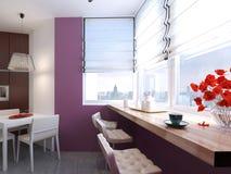 Minimalismo do estilo da cozinha Foto de Stock Royalty Free