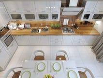 Minimalismo do estilo da cozinha Imagens de Stock Royalty Free