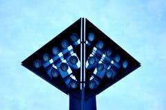 Minimalismwijnoogst van Mainz van de beeldhouwwerk moderne hemel lichte stock foto