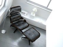 minimalist салона светильника стула нутряной иллюстрация вектора